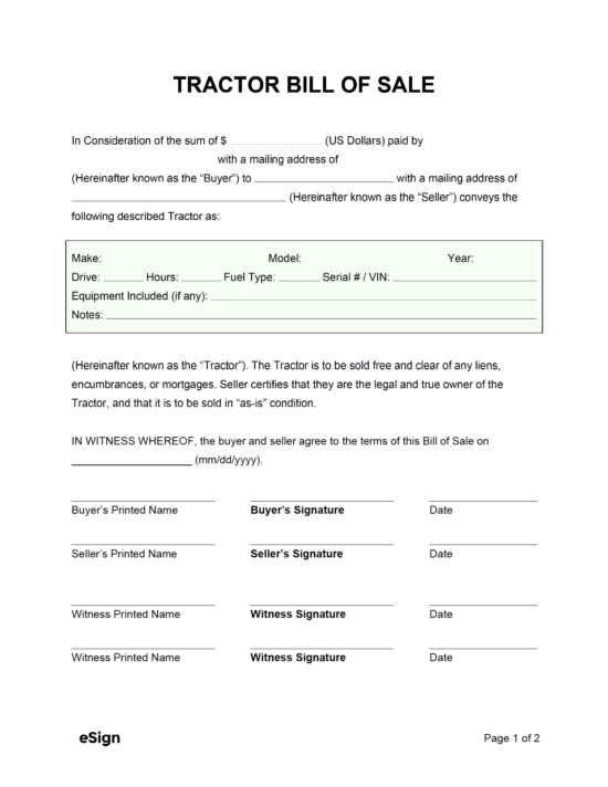 Bill Of Sale Forms Pdf Word 2021